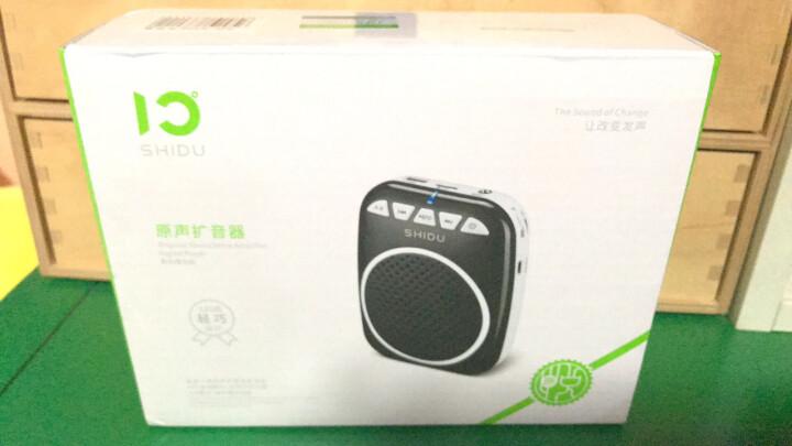 十度(ShiDu) SD-S711 UHF 无线扩音器小蜜蜂教师教学专用 大功率播放器 轻巧便携式导游扩音机 经典黑 晒单图