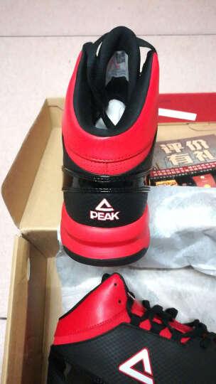 匹克(PEAK) 匹克篮球鞋男高帮透气运动鞋新款减震耐磨防滑经典基础战靴 黑色(建议拍大一码) 41 晒单图