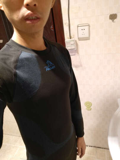伯希和(Pelliot) 户外运动功能内衣男女压缩衣裤贴身内衣套装 灰色(升级版男款) S 晒单图