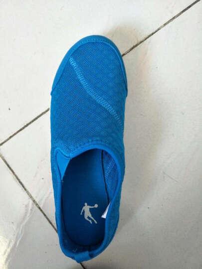 乔丹(QIAODAN)儿童运动鞋 男童青少年网面透气大童鞋休闲鞋儿童软底跑步鞋运动鞋QM1461566 浅灰/白色38 晒单图