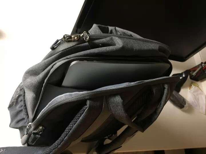 安诺格尔(ainogirl) 单反相机包 新款双肩摄影包尼康佳能休闲相机包男女时尚数码包 A2853蓝灰 晒单图