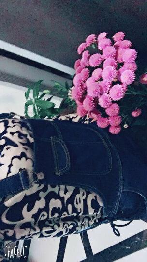 卡欧澜 孕妇背带裤牛仔春秋长裤小脚显瘦弹力韩版托腹裤时尚春秋潮妈大码孕妇裤 蓝色常规款C L 晒单图