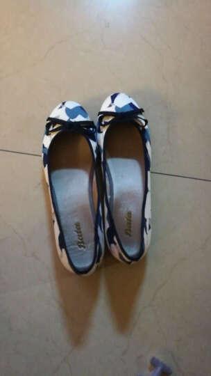 Bata拔佳单鞋女舒适平底碎花浅口鞋时尚休闲鞋 蓝色559-9502 38 晒单图