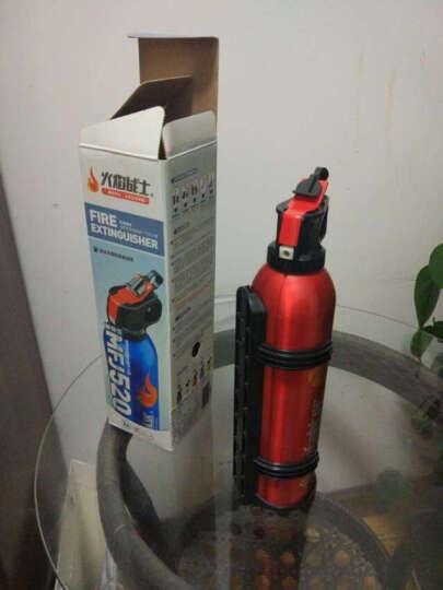 火焰战士 灭火器车载车用家用汽车干粉灭火器 便携小型消防器材灭火器 MFJ520 红色 晒单图