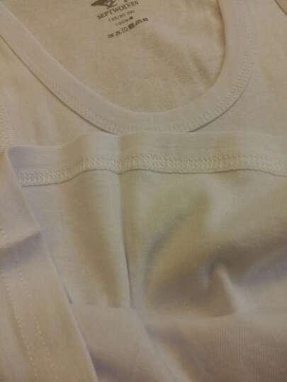 七匹狼 背心男 士时尚罗纹纯棉背心棉螺纹打底衫汗衫 麻灰色 XL(175/100) 晒单图