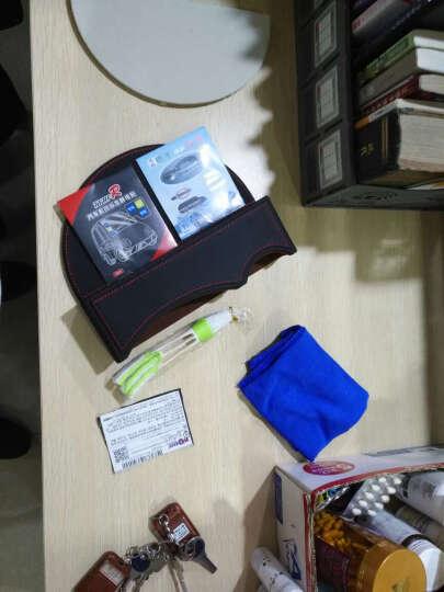 酷唯斯(KuWeiSi) 汽车储物盒座椅缝隙收纳盒车载储物箱车用手机置物箱袋多功能置物盒 升级款 黑红线(单个装) 晒单图