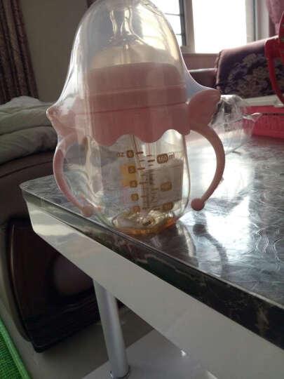 小白熊 奶瓶   ppsu奶瓶 新生儿宽口径奶瓶 婴幼儿防摔吸管 宝宝手柄奶瓶 260ml配L号奶嘴 适用6个月以上 晒单图