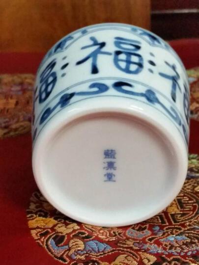 光锋 日本进口蓝凛堂手绘蓝染水杯 和风陶瓷茶杯寿司茶杯点心杯 B款花伊万里AE206 晒单图