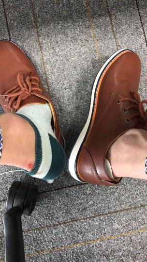 富贵鸟男鞋 休闲鞋 男2018春季新品 上班 板鞋  皮鞋 鞋子男 工作 A746045 棕色 40 晒单图