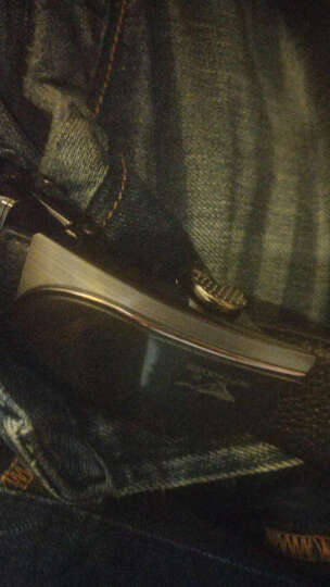 七匹狼(SEPTWOLVES)头层牛皮自动扣腰带+头层牛皮短横款钱包套装 L9436 黑色 晒单图
