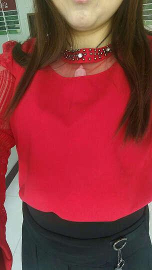 派米娅 2019夏季新款韩版大码女装V领宽松显瘦女士针织纯色上衣保暖打底衫短袖T恤女春秋 米色 XXL 晒单图