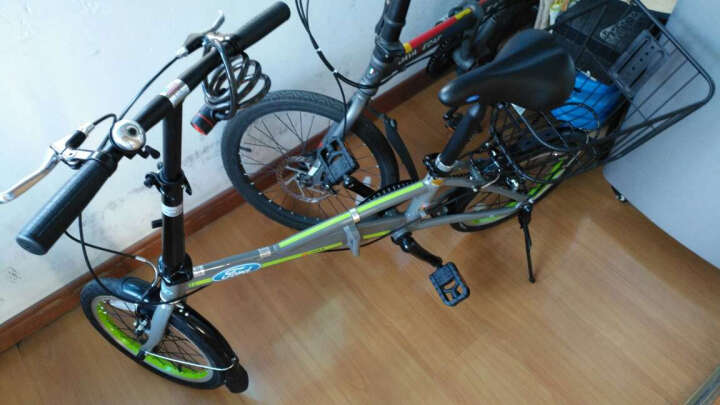 Ford 福特折叠自行车 16寸轻便通勤 学生 男女士休闲单车 大行出品YRA611 亮灰 晒单图
