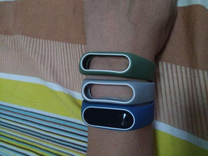 OUMEI 小米手环2腕带 类原装2代替换带非皮革金属 黑白 晒单图