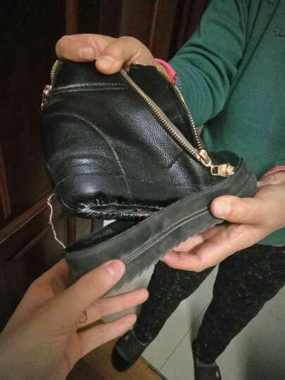 2017秋冬季女鞋休闲鞋女时尚隐形内增高小白鞋松糕鞋子女 B01白色 37 晒单图