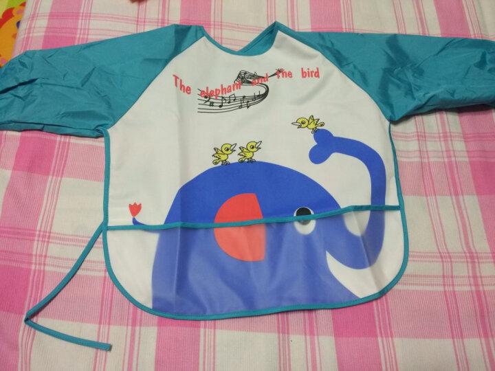 序言(XUYAN) 序言 宝宝罩衣防水婴儿吃饭罩衣反穿衣儿童围裙食饭衣 蓝色黄小鸭 罩衣均码 晒单图