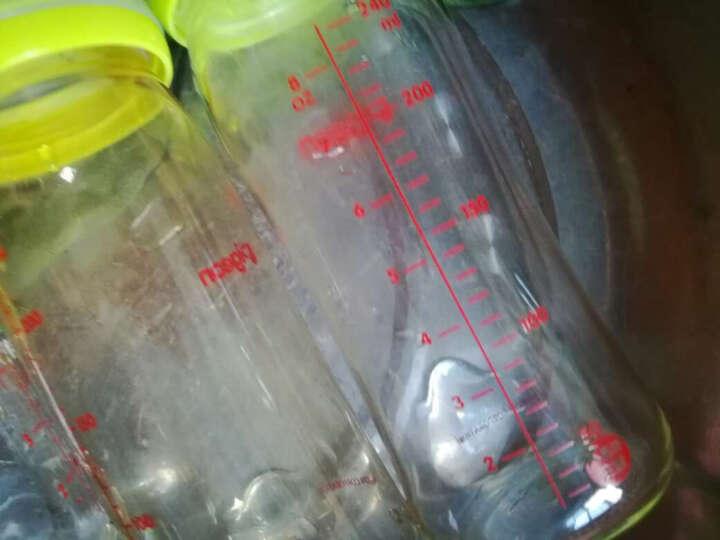 贝亲(Pigeon)宽口径玻璃奶瓶 160ml AA72(绿色) 晒单图