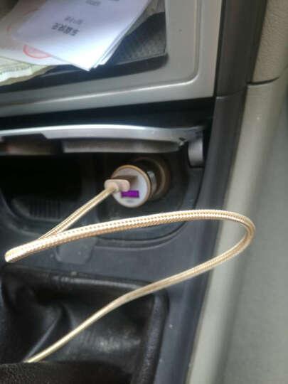 索士车载充电器扩展点烟器汽车双USB快充头适用华为P9/mate8荣耀7/V8/Note8 金色 晒单图