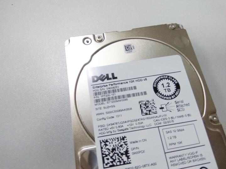 戴尔(DELL) 服务器机械硬盘 1.2T/1.2TB 10K SAS接口 2.5英寸 晒单图