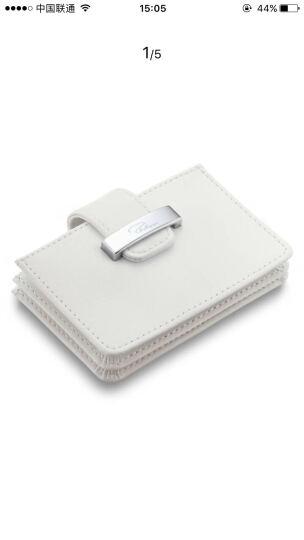 德国进口斐利比 PHILIPPI 女士白色手风琴卡包 名片盒 生日礼物 157012 晒单图
