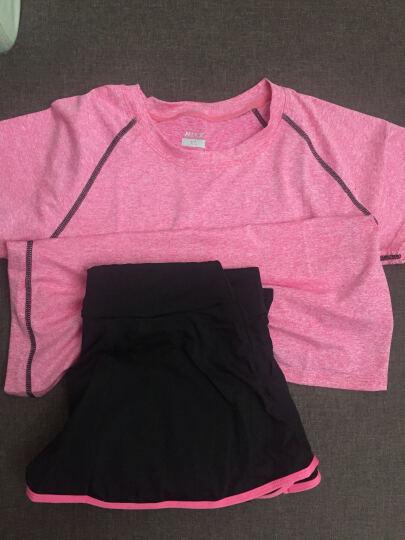 【送文胸】瑜伽服女春夏新款时尚二三件套装锦纶修身显瘦速干舞蹈健身服 A8001黄色+B6001黑白(三件套) S 晒单图