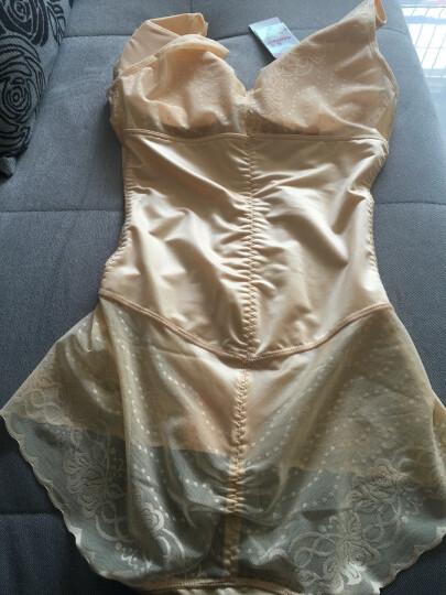 莱孚女士连体塑身衣无痕加强版产后收腹提臀带文胸束身衣夏季薄款透气紧身瘦身衣平角裤 肤色(单条) XL(105-120斤) 晒单图