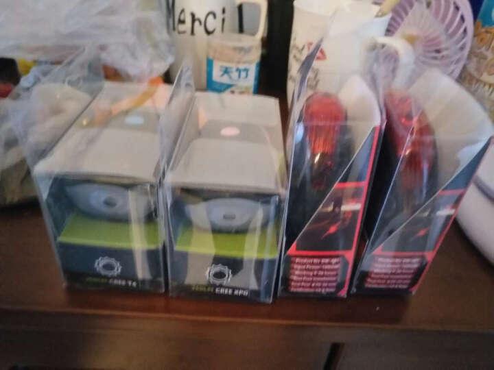 英派(INBIKE) 自行车灯车前灯山地手电筒USB充电喇叭铃铛骑行装备配件 蓝色 USB充电带灯版 晒单图