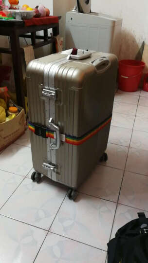 梅罗佩(Merope)一字行李打包带 多用途行李箱旅行安全捆绑 拉杆箱托运带 五彩色密码锁款 晒单图