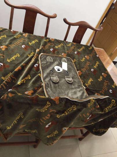 思麦琳秋冬法兰绒抱枕被子两用双层加厚毛毯午睡毯办公室靠枕沙发汽车靠垫卡通毛绒 可爱兔斯基 大号150x180cm双层加厚可机洗 晒单图