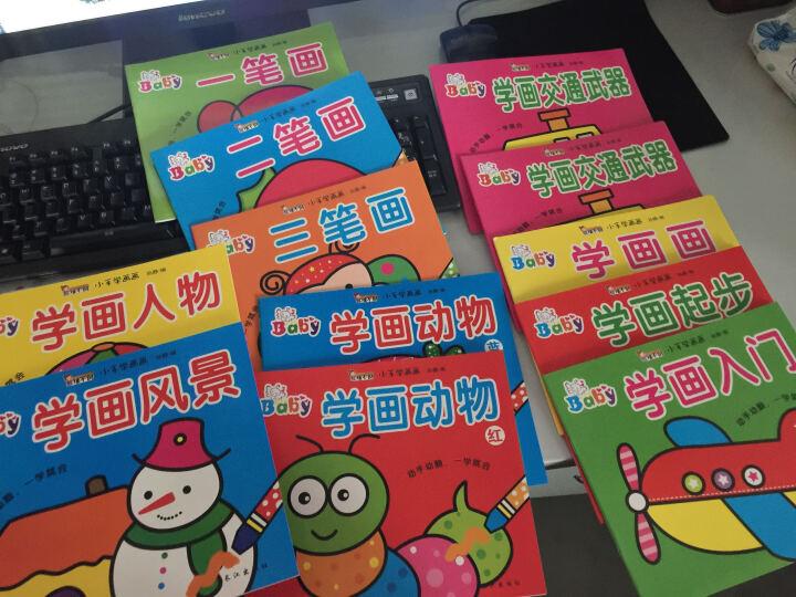 小手学画画小小画家12本套装  2-6岁涂色画  儿童绘画启蒙书籍赠12色蜡笔 晒单图