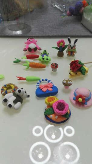贝博氏彩泥超轻粘土儿童手工彩泥黏土太空泥玩具DIY套装36色彩泥+4色SN505A 晒单图