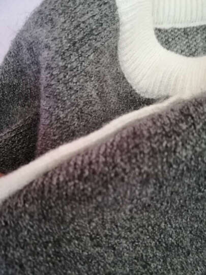 阳光麦芒 针织衫女秋冬季2017新款女装短款毛衣女套头外套韩版打底针织衫长袖上衣 835 浅蓝色 均码  88斤-120斤 晒单图