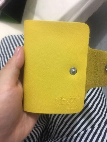 梓林ZILIN真皮卡包男女通用多卡位牛皮卡片包 随机色 随机色 黄色 晒单图