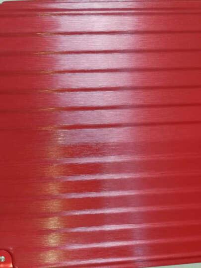 伸缩耐防刮拉丝款万向轮铝框拉杆箱男女登机箱海关锁旅行箱带电脑隔层商务行李箱结婚陪嫁箱子 玫瑰金-防刮 24英寸-升级款拉丝防盗防水 晒单图