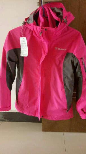探路者TOREAD 女士三合一冲锋衣 户外防水透湿保暖两件套 TAWC92208 葡萄紫 M 晒单图
