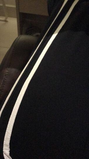UPlee 运动裤 男  小脚 男士 休闲裤 透气 藏青侧面条纹款 XL 晒单图