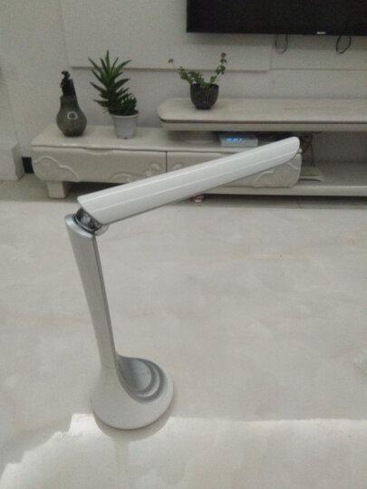 美的(Midea)充电款 LED台灯 工作台灯 学生卧室 床头学习阅读台灯 简致银白 4000K 晒单图