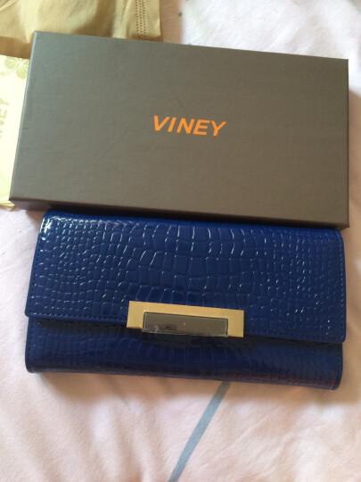 Viney 钱包 女长款女士钱包新款女式卡包手拿包女牛皮手包女 宝石蓝 晒单图