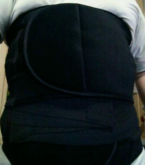 INSMANX男士收腹带塑腰带收胃护胃带护腰束腰带加压二件套 黑色 L(腰围2尺7-3尺2) 晒单图