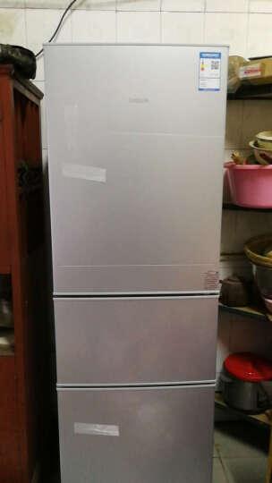 帝度(DIQUA)BCD-220TY 220升 三门冰箱 中门软冷冻 节能保鲜(亮银横纹) 晒单图