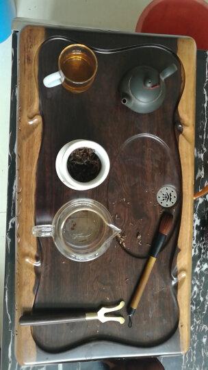 茗聚谊鑫(MINGJUYIXIN) 功夫茶具整块黑檀木茶盘茶托托盘实木茶海茶台简约排水式 行云流水55*30 晒单图