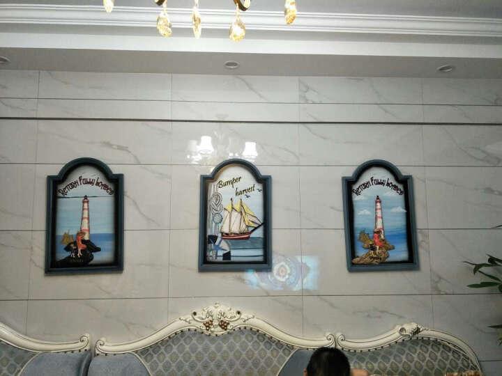 室内(Snnei)客厅装饰画走廊挂画 创意家居立体墙画地中海风格立体浮雕壁画 空中之城(实木款) 晒单图