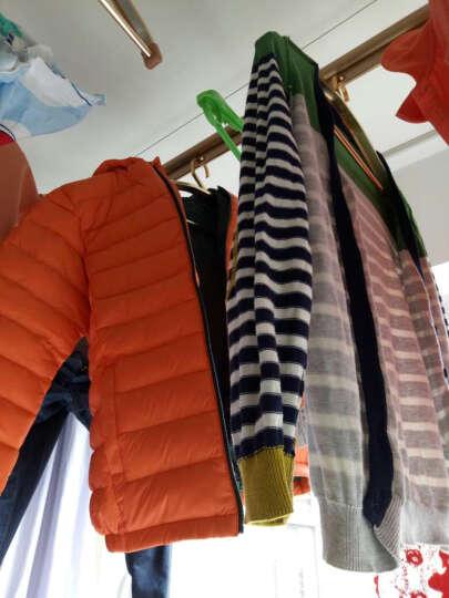 品牌童装男童羽绒服短款冬季儿童羽绒服女童轻薄羽保暖男童羽绒外套男女款 莓红色 160cm 晒单图