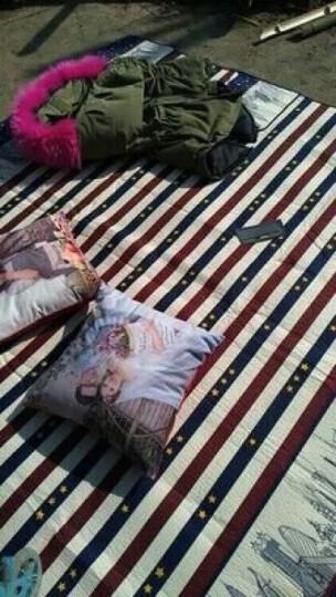 野餐垫防潮垫户外大号野炊营沙滩帐篷地垫防水加厚草坪垫子野餐布 200*150-红蓝条纹(涤棉) 晒单图