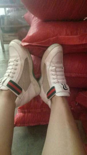 亚蒂狐(YADIHU) 亚蒂狐新款小白鞋运动休闲鞋内增高女鞋时尚休闲单鞋 白网鞋 36 晒单图