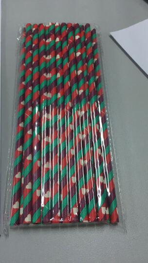 一口米  糖果彩色条纹吸管 创意梅森瓶一次性硬纸质艺术吸管 食品级一次性硬纸质吸管  25根单包单色 浅绿色 晒单图