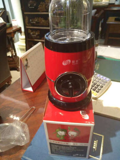 福菱(Fuling) FL-007料理机多功能婴儿辅食机电动豆浆果汁机家用研磨绞肉榨汁机 红色 晒单图