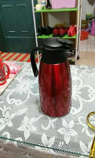哈尔斯(HAERS) 保温壶家用暖壶热水瓶不锈钢暖水瓶热水壶暖水壶保温杯暖瓶保温瓶2L 酒红色 晒单图