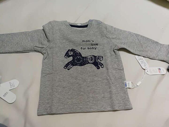南极人(Nanjiren) 南极人男童卫衣外出服上衣春秋季新款圆领打底衫外出服T恤 剪纸小马-灰色 90CM 晒单图