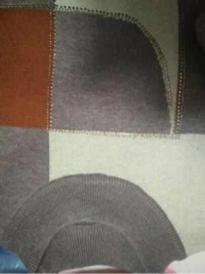 慕姿莎 中老年女装秋冬圆领羊毛衫 半高领妈妈装毛衣 中年女装上衣毛衣打底衫 藏青 3XL(140以上) 晒单图