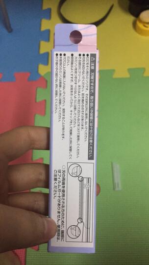 日本进口贝印KAI  初学者安全修眉刀刮眉刀带防护套 防滑锋利 5把 蓝色 晒单图
